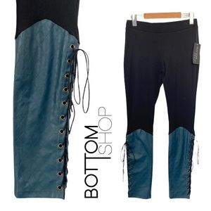 Bottomshop Apparel Lace Up Faux Leather Bottoms